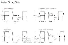 Dining Table Chair Dimensions Charming Kitchen Tips Together With Exciting Standard Room In