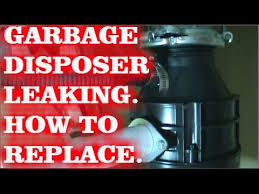 garbage disposal leaking how to replace youtube