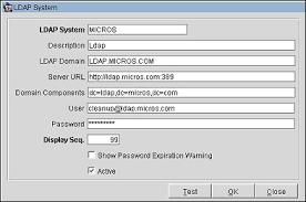 Micros Opera Help Desk by Ldap Integration