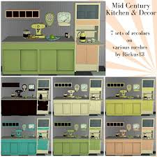 Mid Century Kitchen And Decor Recolors By Reikus13