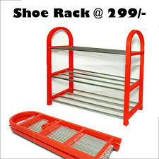 Buy 3 Layer Foldable Metal Shoe Rack line