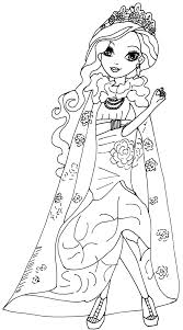 Ever After High Rosabella Beauty Coloring Pages