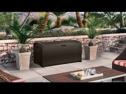 suncast dbw9200 mocha wicker resin deck box 99 gallon reviews
