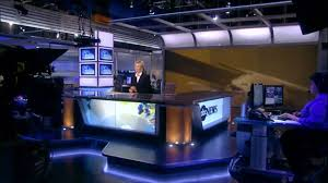 ABC News New Anchor Desk Set World News With Diane Sawyer