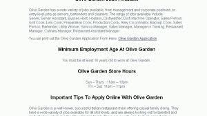 Olive Garden application job application on Vimeo