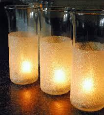 DIY Glitter Vase Wedding Centerpieces