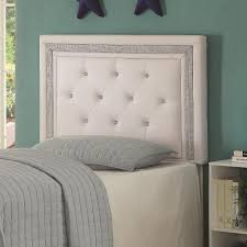 Black Leather Headboard With Diamonds by Crystal Button Headboard Tufted Sigong Info