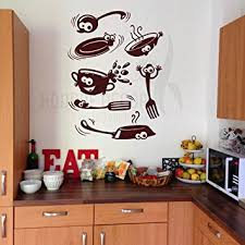 Hoopoe Decor Laughing Kitchen Utensils Wall Stickers And Decals Small