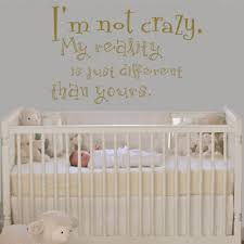 Wall Mural Decals Nursery by Cheshire Cat Sayings I U0027m Not Crazy Alice In Wonderland Quote Decal