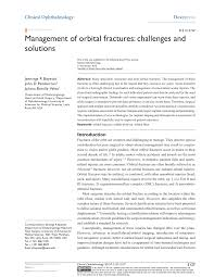 Orbital Floor Fracture Non Blowout by Management Of Orbital Fractures Challenges And Solutions Pdf