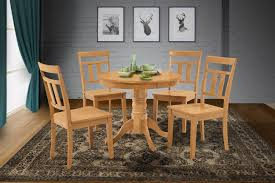 Amazon.com - M&D Furniture 5-Pc Round Kitchen Dining Table ... Iris Dark Brown Round Glass Top Pedestal 5 Piece Ding Table Set Nice 48 Inch 9 Relaxbeautyspacom Wood Kitchen Small And Chairs Shop Wilmington Ii 60 Rectangular Antique Sage Green White Others Bright Modern Vancouver Oval Double In Oak 40x76 Copine Cheap Find Diy Plans Pdf Download Odworking Braxton Culler Room Fairwinds Roundoval