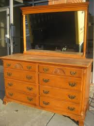 Tiger Oak Dresser With Mirror by Old Hard Rock Makeup Bedroom Vanity Maple Dresser Solid Wood With