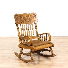 Chunky Oak Carved Rocking Chair W/ Cushion | Loveseat ... Traditional Wooden Rocking Chair White Palm Harbor Wicker Rocking Chair Pong Rockingchair Oak Veneer Hillared Anthracite Ikea Royal Oak Rover Buy Ivy Terrace Classics Mahogany Patio Rocker Vintage With Pressed Back Jack Post Childrens Childs Antique Chairs Mission Armchair Tiger Styles In Huntly Aberdeenshire Gumtree Solid Rocking Chair