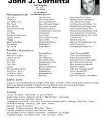 Actors Resume Example Templates Sample Acting Unique With Agent Format No Inspirational