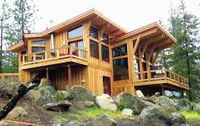 Custom Post And Beam Horizon View Home In Leavenworth WA