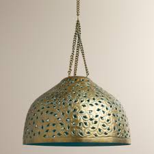 Punched Tin Lamp Shades Uk by Good Moroccan Punched Metal Pendant Light 93 About Remodel