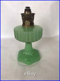 Aladdin Kerosene Lamp Model B by Aladdin Corinthian Jadeite Kerosene Oil Lamp Moonstone Withnu