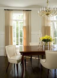 Los Angeles Yellow Silk Drapes Dining Room Traditional With Window Treatments Mahogany Floor Mirrors Candlesticks