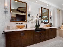 Modern Master Bathroom Vanities by Bathroom Bathroom With Cherry Blossom Mural On Gold Leaf Wall