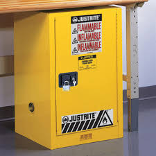 Justrite Flammable Cabinet 45 Gallon by Justrite 12 Gallon Cabinet Self Closing Yellow Flammable Safe