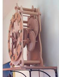 Free Wood Clock Plans by 51 Best Wooden Clocks Images On Pinterest Wooden Gears Wooden