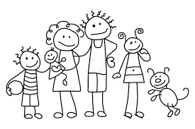 The Nuclear Family Comic Book Villains Stick Figures
