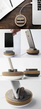 Round iPad iPhone Cell Phone Charging Station Dock Mount Holder Charge Cord Cable Organizer Management System