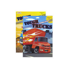 48 Units Of TOUGH TRUCKS FOIL & EMBOSSED Coloring & Activity Book ...