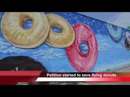 Big Ang Mural Petition by Petition Aims To Save Flying Donuts Mural Koch U0027s Bakery Youtube