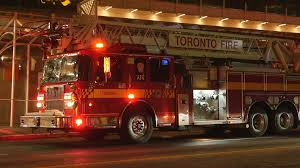 TORONTO, CANADA On Aug 18th: Firetruck On Bloor Street East In ...
