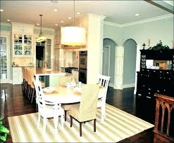 Rug Under Dining Table Size Kitchen For