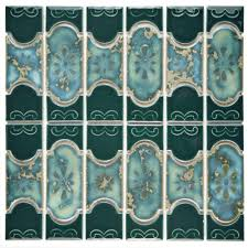 Home Depot Merola Lantern Ceramic Tile by Merola Tile Montego Emerald 12 1 4 In X 12 1 2 In X 5 Mm