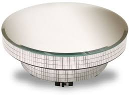 B Rotating Display Base W Mirror Turntable Mosaic Sides 7 Diameter X 2 5 8H Has On Off Switch Side Continued Battery Powered