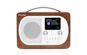 dab radio evoke h4 bt walnuss