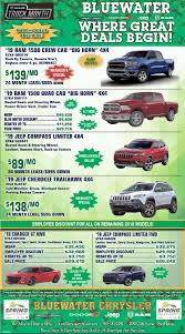 100 Dodge Truck Leases New Vehicle Ad Blue Water Chrysler Jeep RAM Fort Gratiot MI