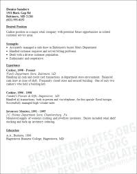 Cashier Resume Examples Bullets