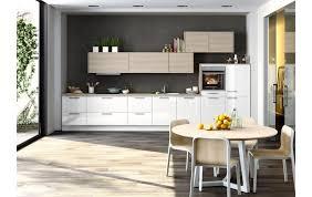 pfiffige küchenzeile ka51 160 mit vielen schubläden in hochglanz weiß und alteiche synchronpore nachbildung