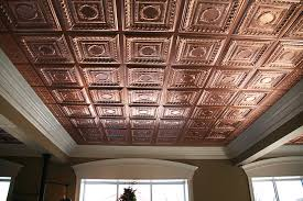 Vinyl Drop Ceiling Tiles 2x2 by Stratford Faux Copper 2x4 By Ceilume