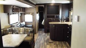 Travel Trailer Floor Plans Rear Kitchen by 2017 Evo 3250 Travel Trailer Double Slide Outs Rear Outside
