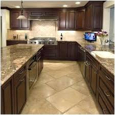 Kitchen Floor Tile Ideas With Dark Cabinets Designs A Really Encourage Tan