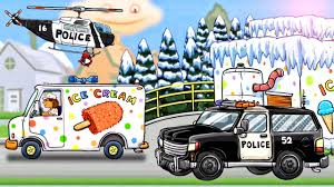 Police Truck & Ice Cream Truck : Diggers For Kids | Cartoon For ... Ice Cream Truck Business Youtube Complete Coloring Page Learn Colors For Kids Hde Shopkins Season 3 Playset Mercedesbenz Shaved Paradise Cookie Website All Week 4 Challenges Guide Search Between A Bench The Images Collection Of Cream Truck For Sale In Arizona Mobile Dodge Racing Studebaker At Irwindale Spee Philippines Fortnitethe Icecream Truck Repair Car Garage Service Bikini Girl Stealing Ice From