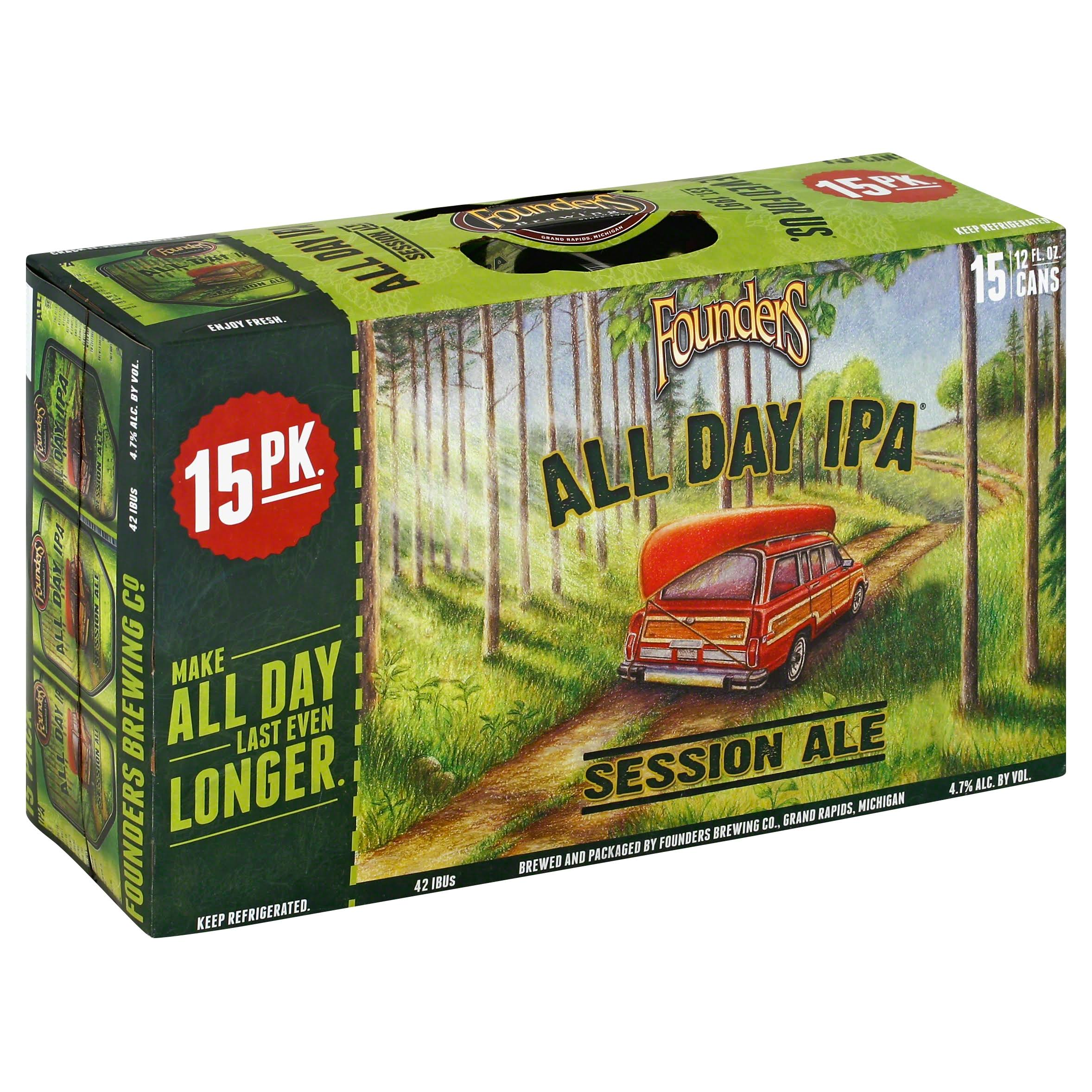 Founders Brewing All Day IPA - 15 pack, 12 fl oz cans