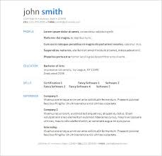 Resume Template Word 2007 Free Download