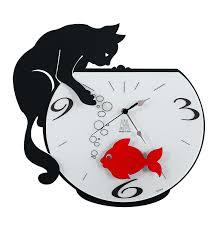 horloge de cuisine horloge arti poisson noir amazon fr cuisine maison