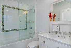 use small pops of glass in bathroom tile design the tile shop