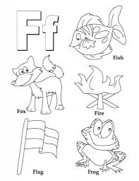 My A To Z Coloring Book Letter F Page Pictures For Intended