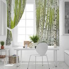 küche vorhänge pflanzen birke wald bäume fenster vorhänge wohnzimmer schlafzimmer decor artikel vorhänge für schlafzimmer