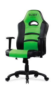 [BLACK/GREEN] Elite Expert Gaming Chair / High Quality PU / High Density  Foam Padding / Low Backrest / 5706470064614