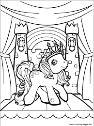 Rainbow My Little Pony Kingdom Coloring Pages