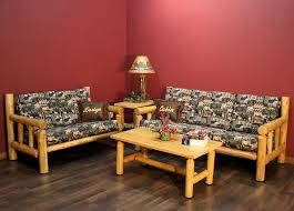 Cedar Log Living Room Example Rustic Furniture Made In The USA